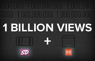SlideDeck & Hellobar just passed 1 billion views!