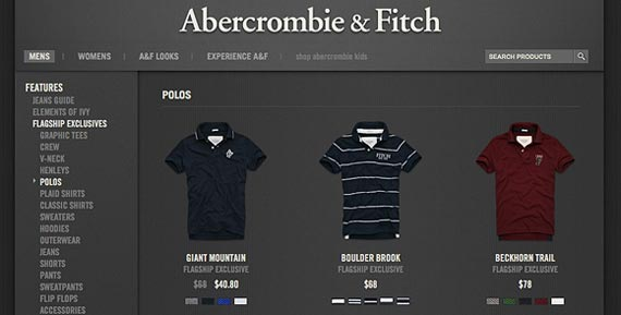 Cut the clutter - just like Abercrombie & Fitch