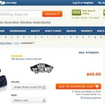 Zappos catches your eye with clear calls to action