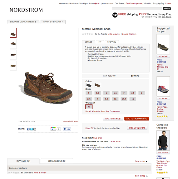 Nordstrom optimizes its pages for speed