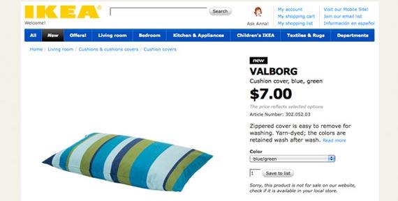 Ikea keeps their copy short & sweet