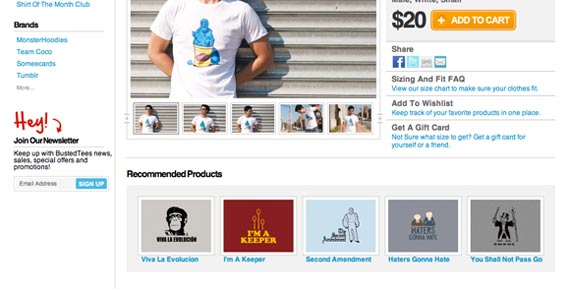 Bustedtees offers options to help indecisive customers