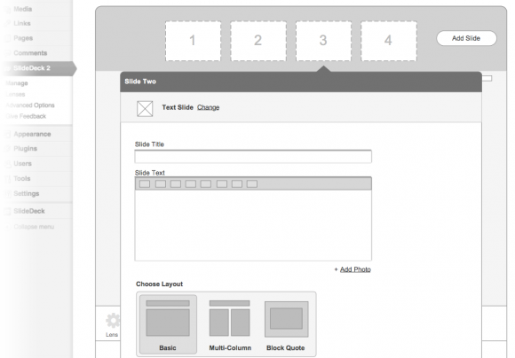 Richer slide content formatting options, plus layout templates