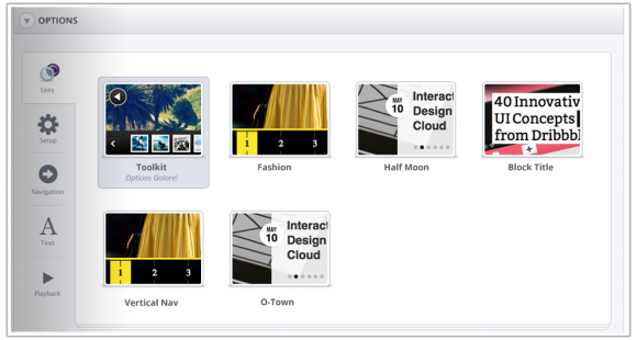 SlideDeck 2.1 | Lens picker preview