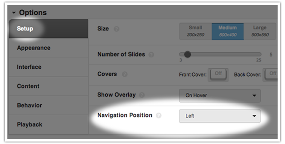 Configuring a vertical nav in the Toolkit Lens