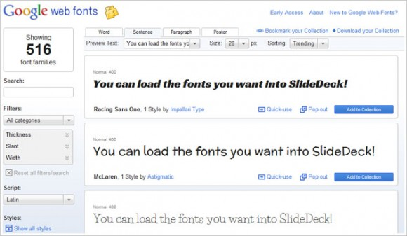 how to put fonts into google slides