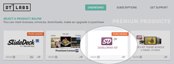 Click on the SlideDeck.js Developers Kit tile