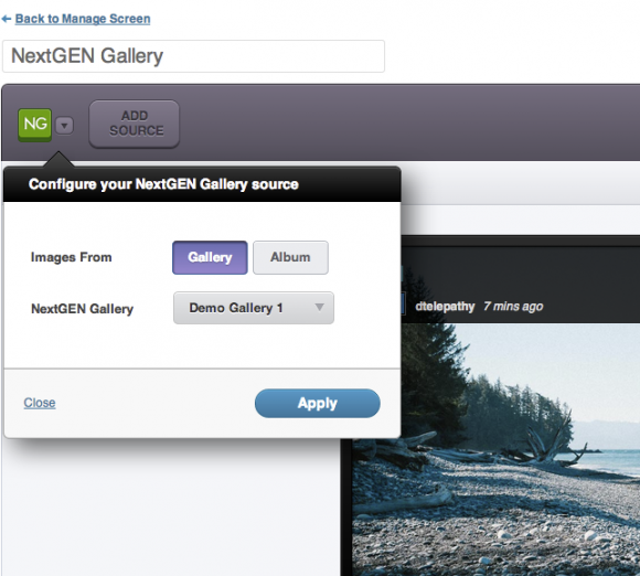 NextGen Gallery Image Support
