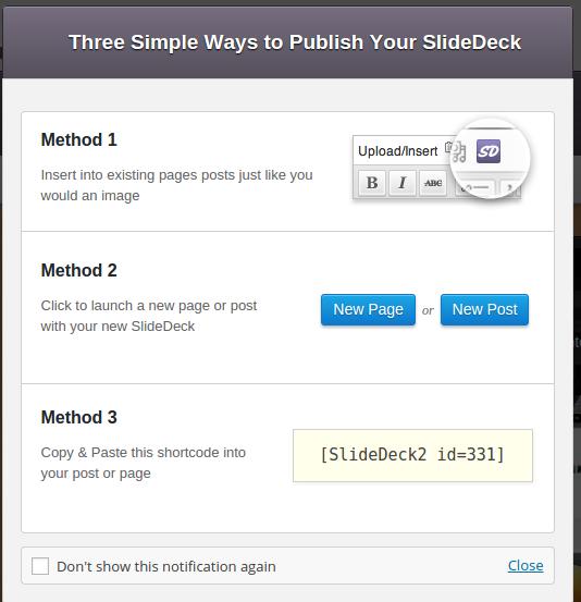Publish SlideDeck