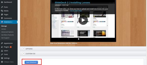 Save SlideDeck