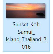 Sunset slider image with full name