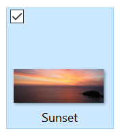 Sunset slider image with name