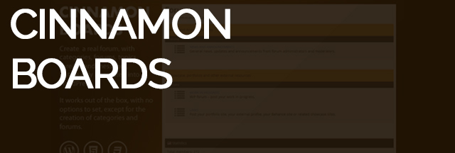 Cinammon boards - Website slider