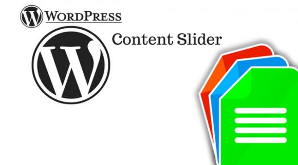 WordPress content slider