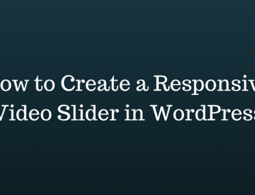 How to Create a Responsive Video Slider in WordPress