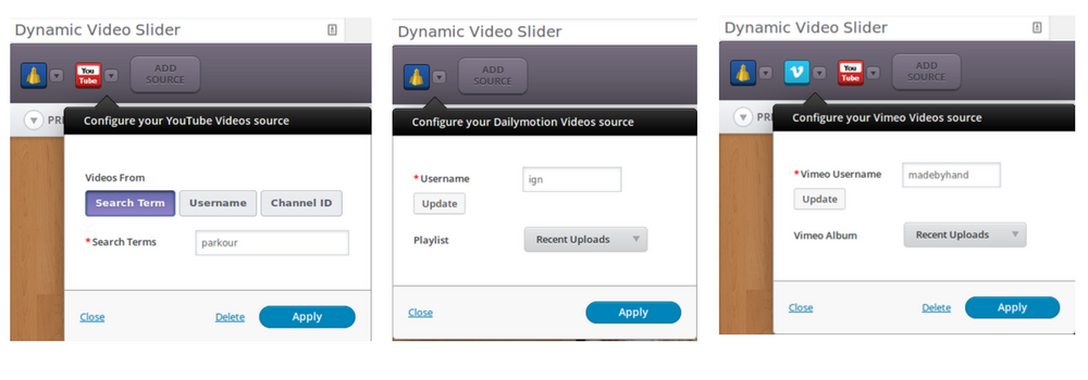 Dynamic video slider
