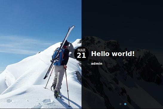 WordPress post slider