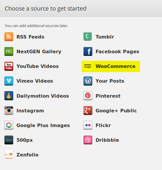 Content source - WooCommerce