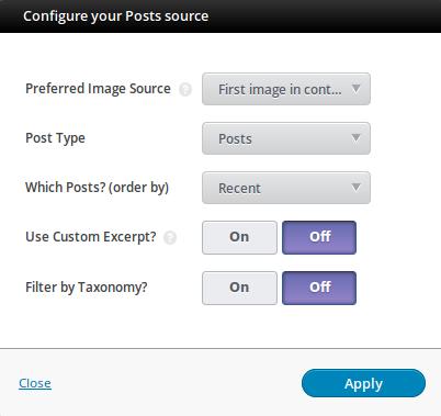 Configure source - SlideDeck