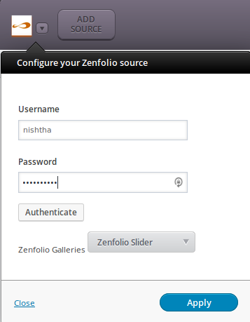 Zenfolio - setings
