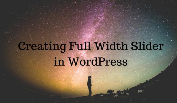 full width WordPress slider