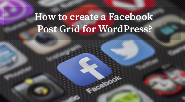 Facebook post grid