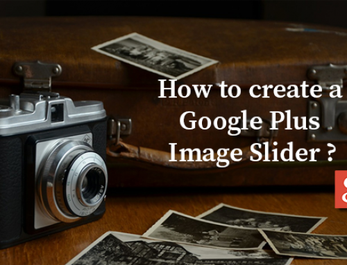 How to Create a Google Plus Image Slider?