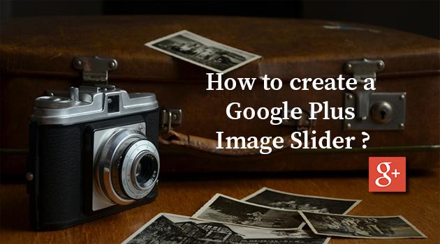Google Plus image slider