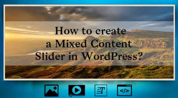 Mixed content slider