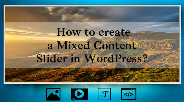 Mixed content slider