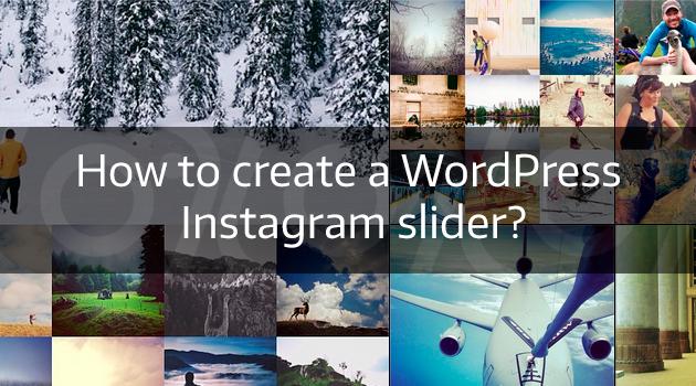 WordPress Instagram slider
