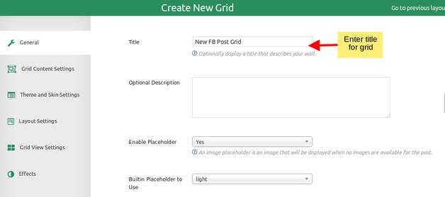 Create new grid - GridFX