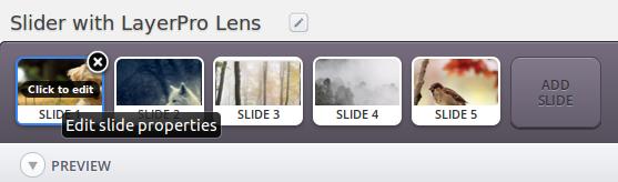 Slider - LayerPro lens