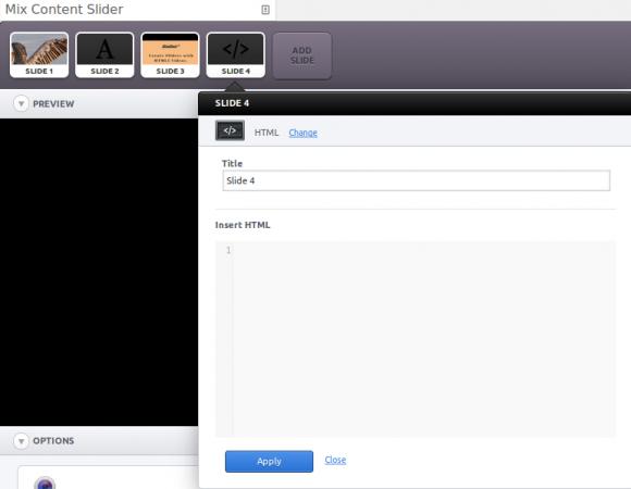 HTML slider