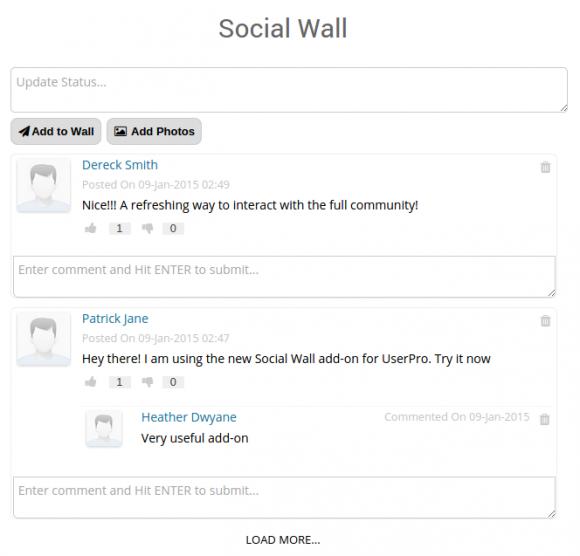 Social wall addon - UserPro