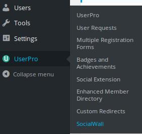 Social wall - UserPro