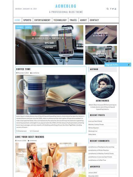 Acme Blog Pro – The Professional Blog Theme