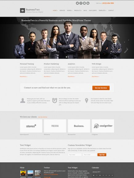 Business Two – A Classic Business Theme