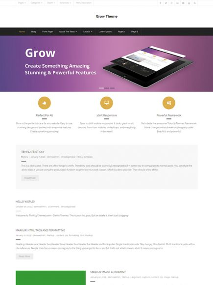 Grow – Another Business Theme