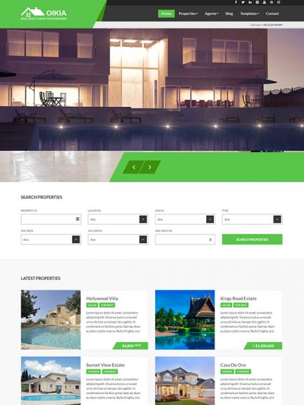 Oikia – The Real Estate and Tourism Theme