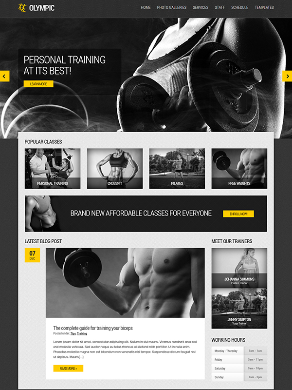 Olympic – Fitness and Health Theme