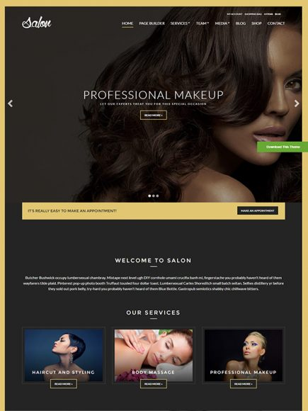 Salon – A Theme for Hair Stylists and Beauticians