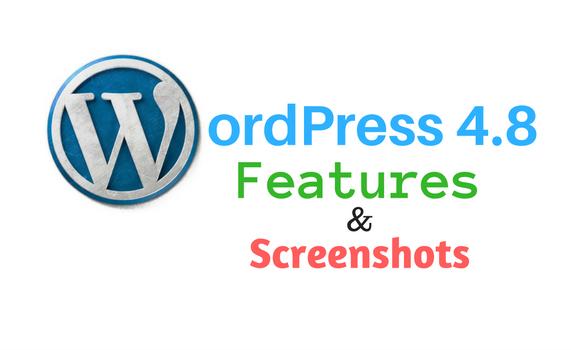 WordPress 4.8 features and screenshots