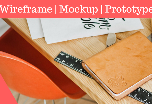 difference between Wireframe, Prototype, and Mockup
