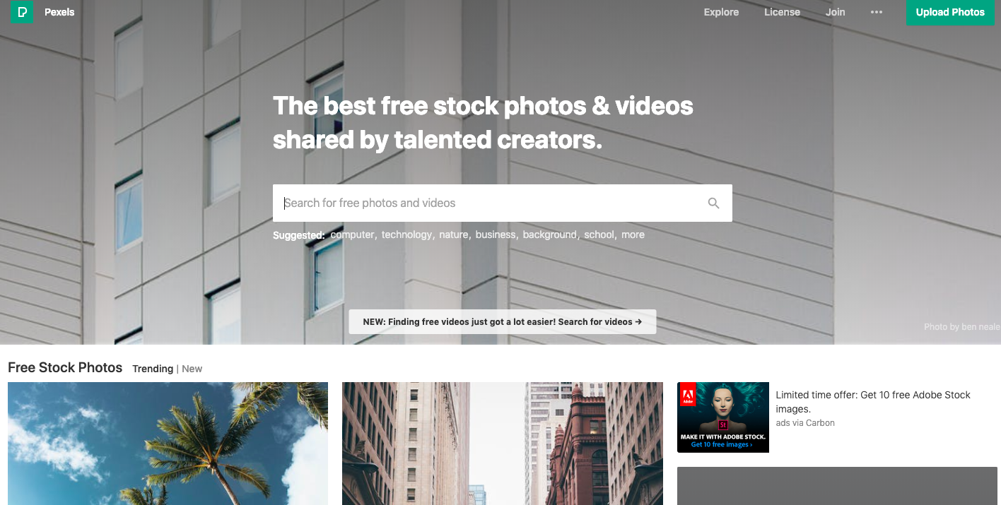 Website slider images