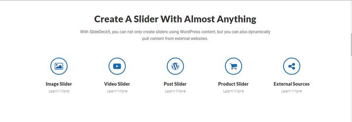Homepage Sliders