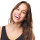 Attractive young woman with long hair laughing